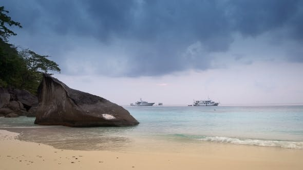 Thumbnail for Boats At Sea At Sunrise, Similan Island