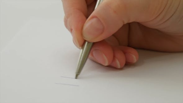 "Thumbnail for Female Hand Writes ""I Love You"" On The Paper Sheet"