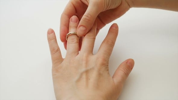 Thumbnail for Woman Wears Engagement Or Wedding Diamond Ring