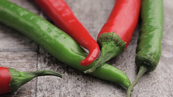 Thumbnail for Spicy Pepper On Wooden Background