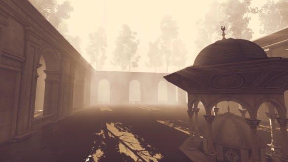 3D Moschee, Brunnen Kuppel und Garten 2