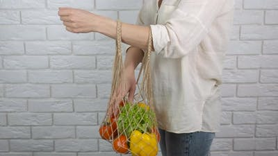 After Shopping with Vegetables