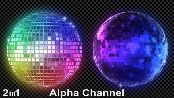 Thumbnail for Colorful Mirror Disco Ball (2-Pack)