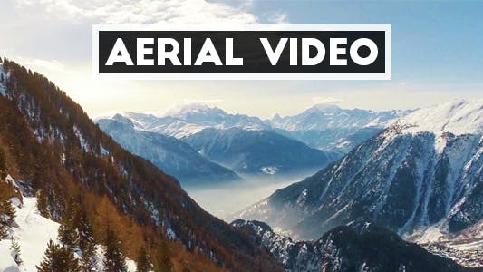 Thumbnail for Aerial Video of Alpine Landscape in Switzerland