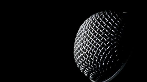 Microphone Radio Rotating