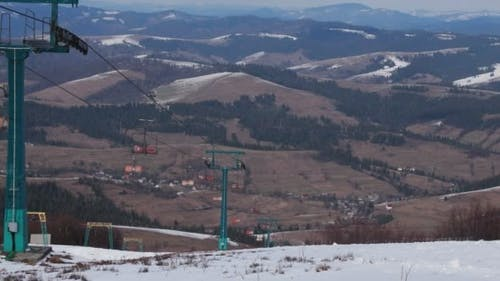 Ski Lift and Spring Mountains View