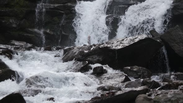Thumbnail for Fast Flowing Water in a Waterfall During Winter