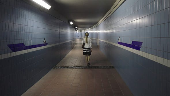 Thumbnail for Woman are Going in the Underpass