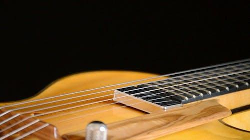 Classic Electric Guitar Jazz Rotating in Horizontal