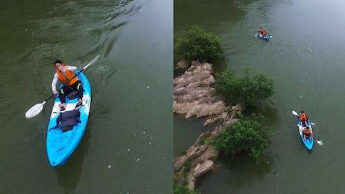 Canoeing At Beautiful River