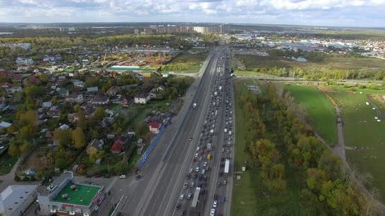 A Suburb Traffic Jam
