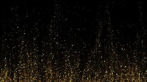 Gold Particles Rising HD