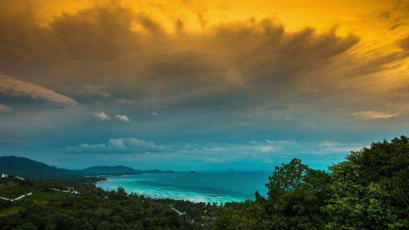 Thumbnail for Panoramic Sea Views From The Viewpoint, Koh Samui, Thailand