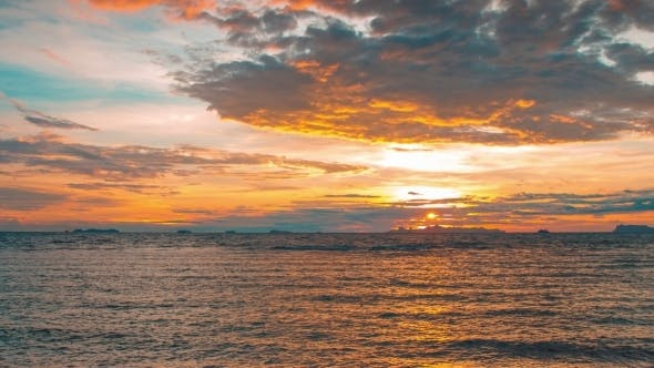 Thumbnail for . Sunset In Taling Ngam Beach, Samui Island, Thailand
