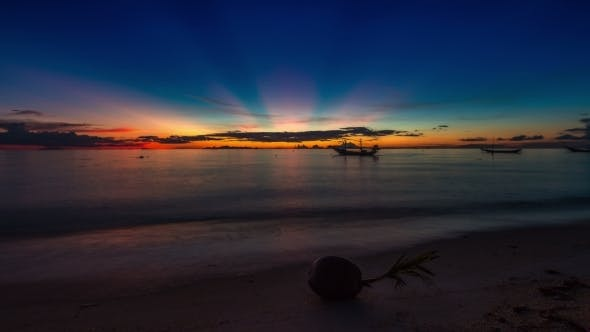 Cover Image for Sunset Sea Turns Into a Night With The Stars, Koh Samui, Thailand