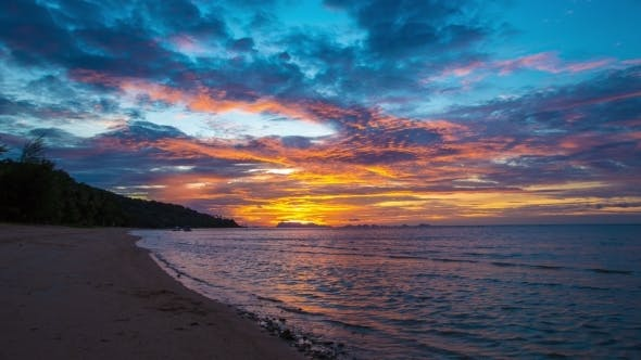 Cover Image for Sunset On The Beach, Koh Samui, Thailand