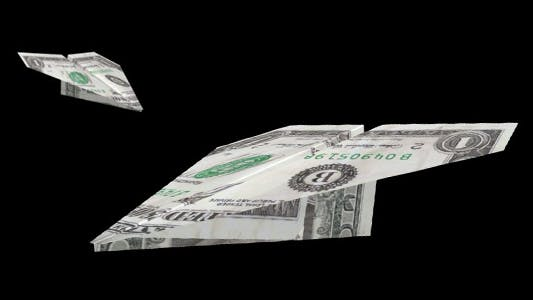 Thumbnail for Flying Paper Airplane - One Dollar Bill - Pack of 2