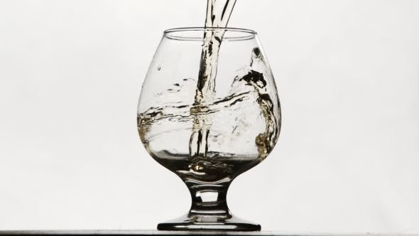 Thumbnail for Moving White Wine Glass Over a White Background