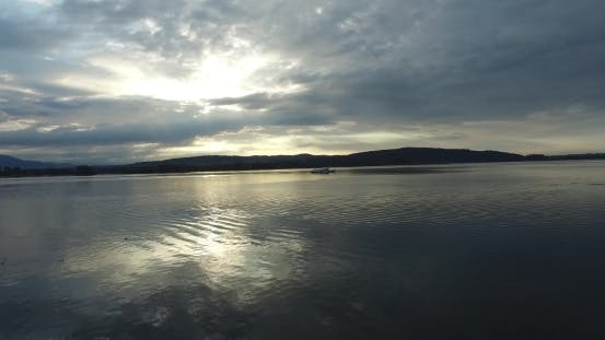 Thumbnail for Morning Ship On The Lake In Italy Arona