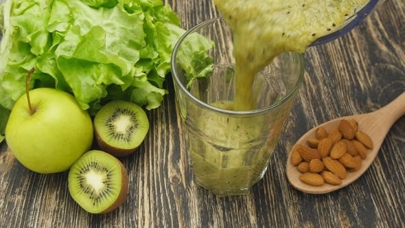 Thumbnail for Pouring a Green Smoothie