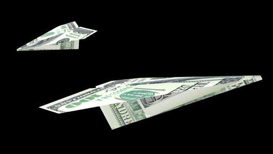 Fliegendes Papierflugzeug - Hundert-Dollar-Schein - Packung mit 2