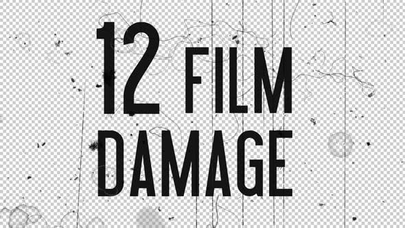 Film Damage Overlays - 12 Pack