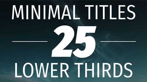 Thumbnail for Minimal Titles and Lower Thirds
