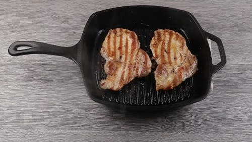 Barbecue Sauce On T-bone Steak