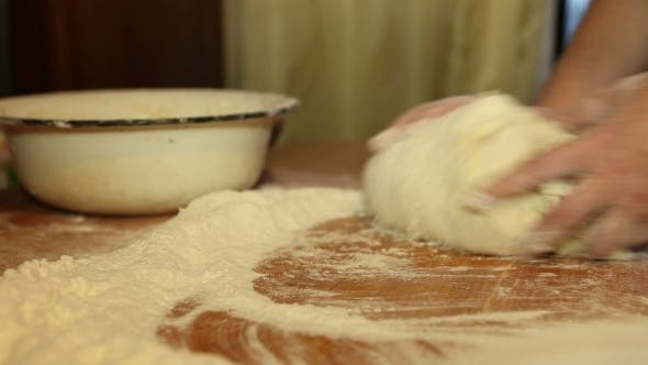Thumbnail for Woman Knead The Dough On The Table