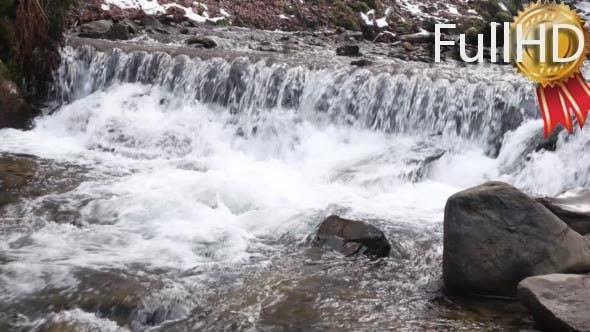 Thumbnail for Beautiful Veil Cascading Waterfalls, Winter