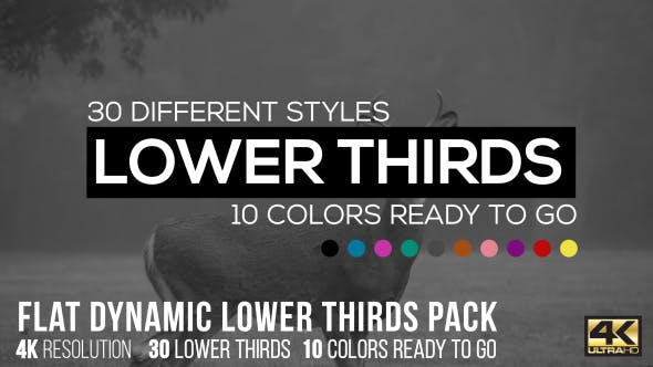 Thumbnail for Flat Dynamic Lower Thirds Pack
