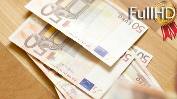 Thumbnail for Hands Counting Euro Money Bills