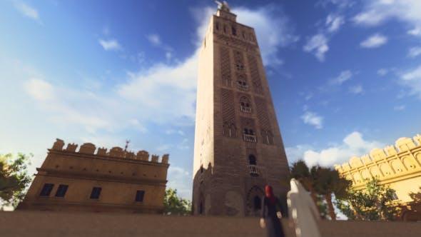 3D Andalusien Giralda Turm