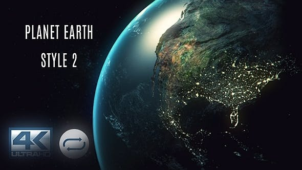 Thumbnail for Planet Earth - Orbit View Ver. 2