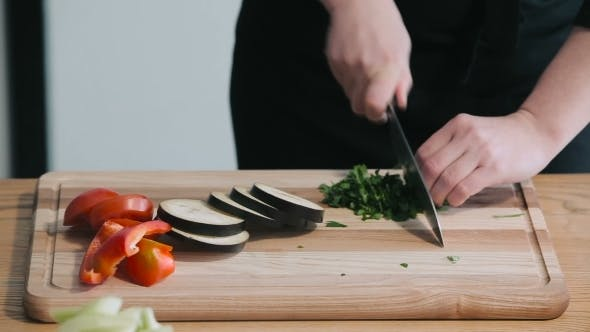 Thumbnail for Chef Cutting Parsley