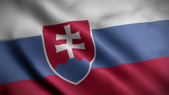Thumbnail for Slovakia Flag Closeup Blowing In Wind
