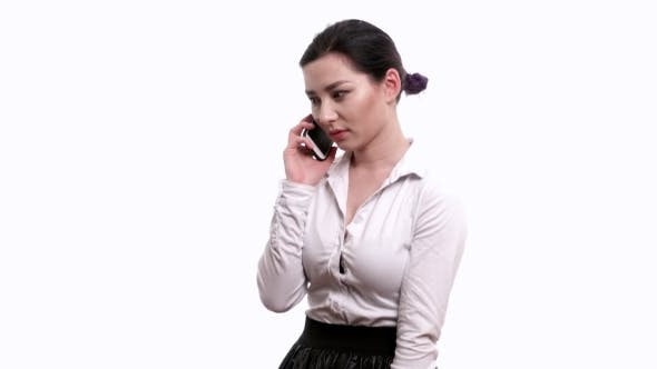 Thumbnail for Worried Businesswoman Talking On The Mobile Phone