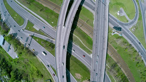 Aerial View Of A Freeway