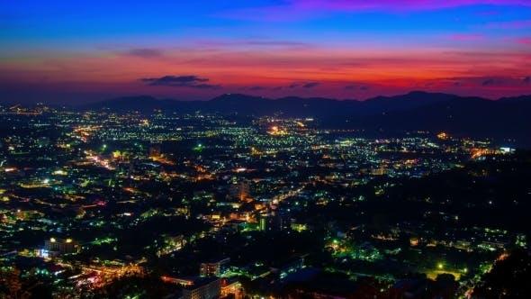 Thumbnail for Sunset Over The Phuket Town, Thailand.