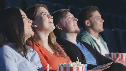 Four Friends In a Multiplex View Perspective