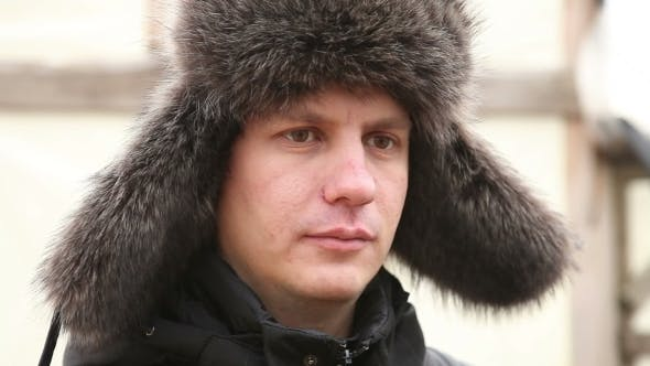 Thumbnail for Portrait Of a Man In Winter Fur Hat