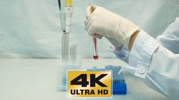 Thumbnail for Lab Technician Scientist Makes Chemical Analysis