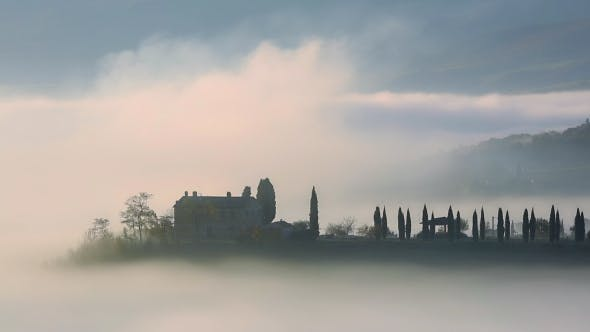 Thumbnail for Dense Morning Fog in Tuscany