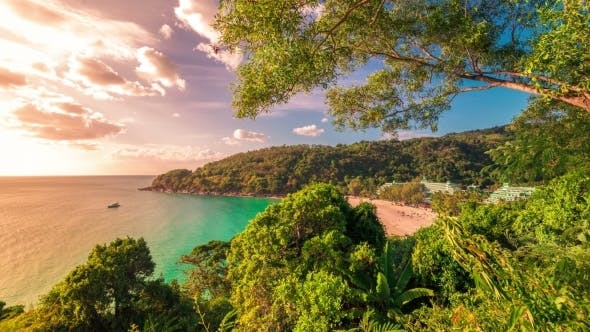 Cover Image for Small Beautiful Tropical Beach In Phuket Island, Thailand