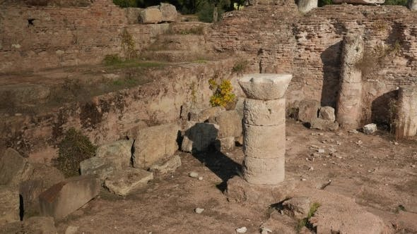 Thumbnail for Ruins Of An Ancient Bath House In Tralleis, Aydin, Turkey. .