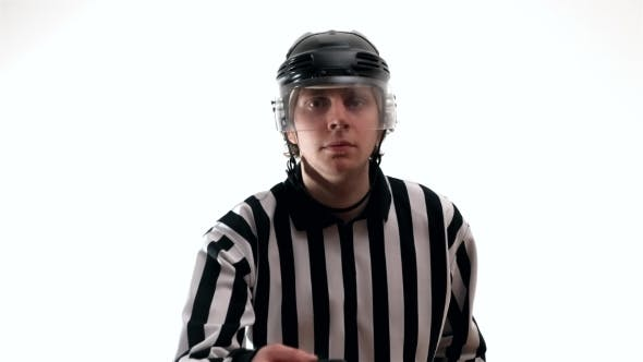 Thumbnail for Ice Hockey Referee Watches Game