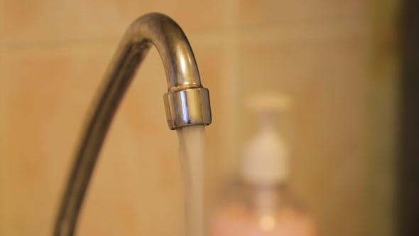 Thumbnail for Water Flows From The Kitchen Faucet