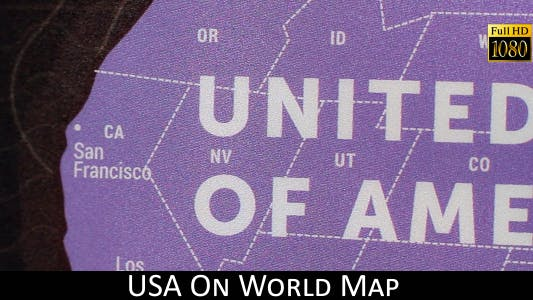 Thumbnail for USA On World Map 20