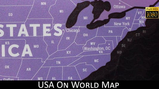 Cover Image for USA On World Map 24