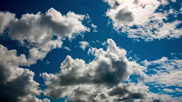 Blue Sky Moving Clouds